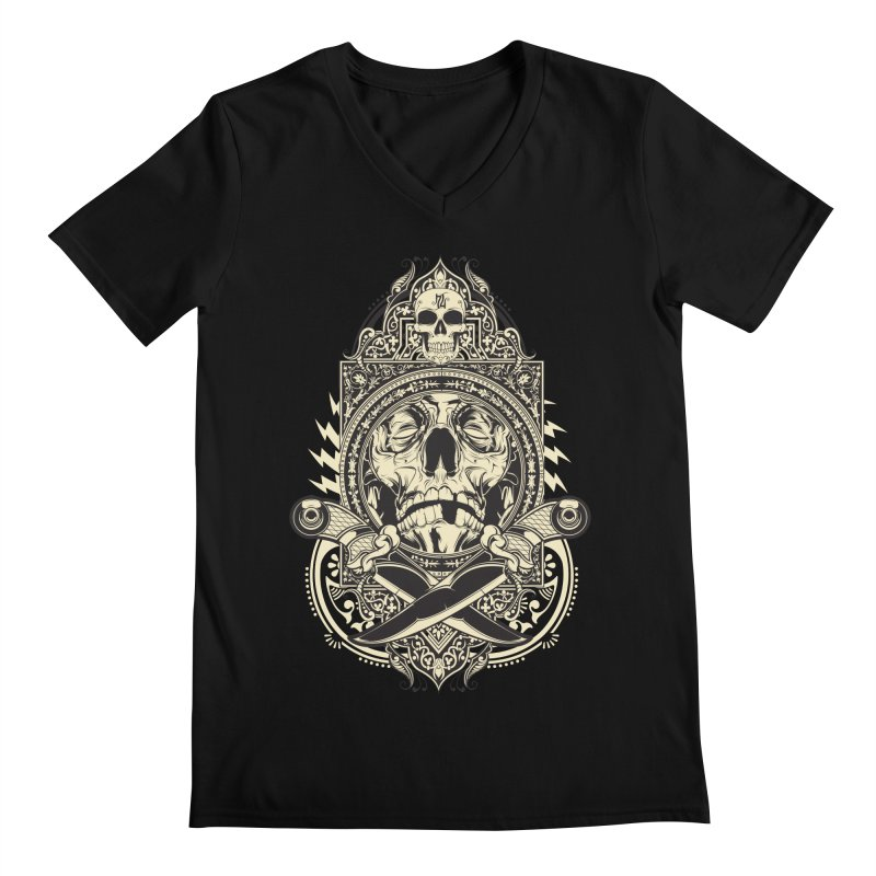 Hydro74 Old School Deity Men's Regular V-Neck by HYDRO74