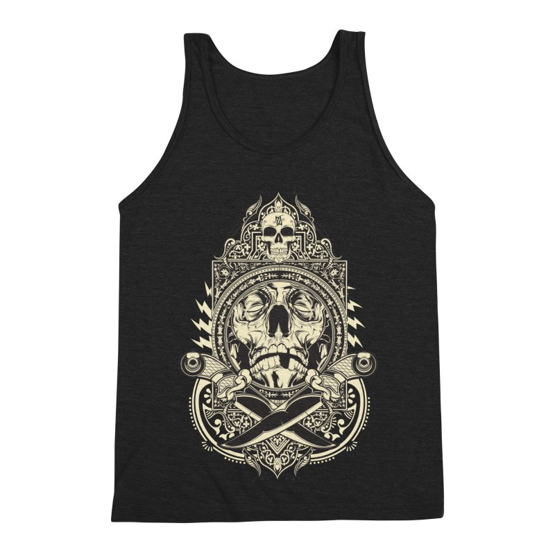 Hydro74 Old School Deity Men's Triblend Tank by HYDRO74