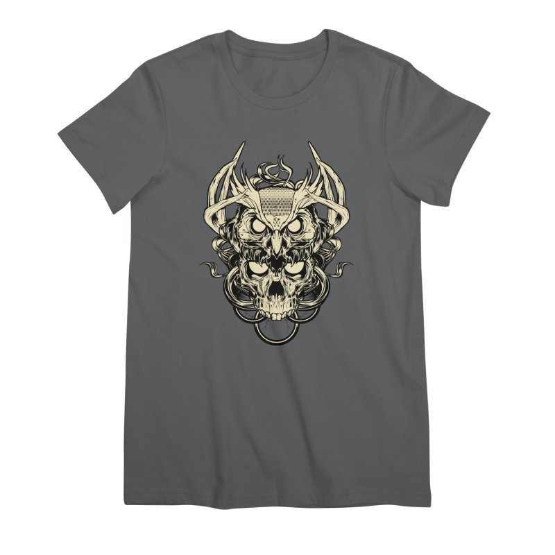 Hydro74 Old School Owl Women's Premium T-Shirt by HYDRO74