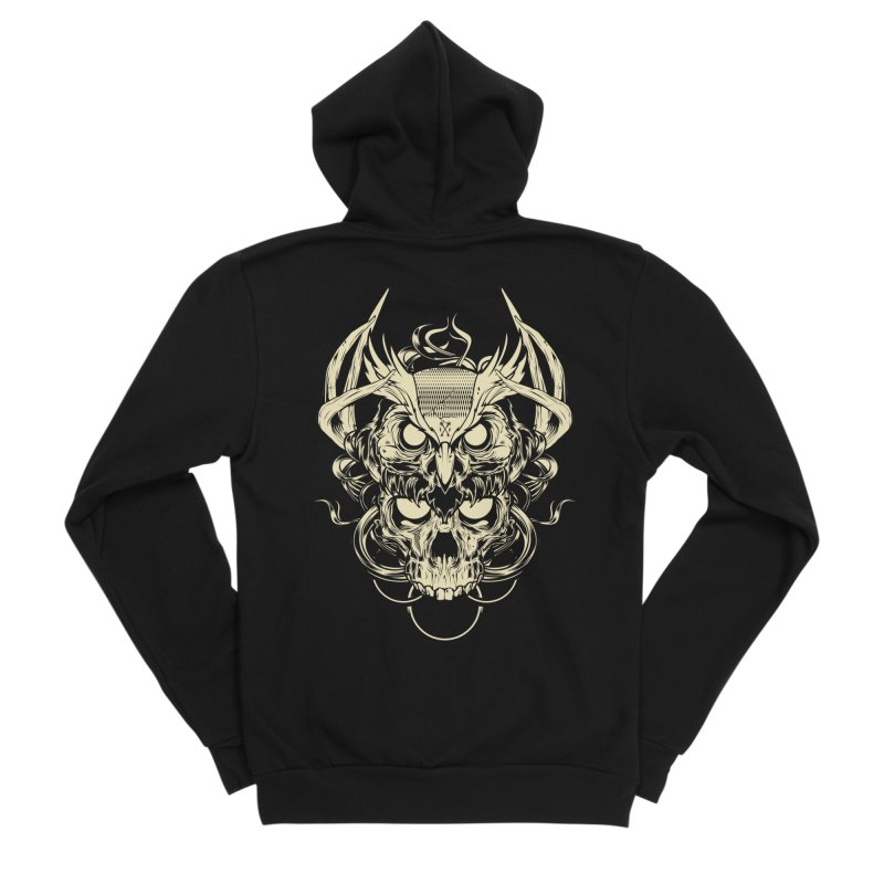 Hydro74 Old School Owl Women's Sponge Fleece Zip-Up Hoody by HYDRO74