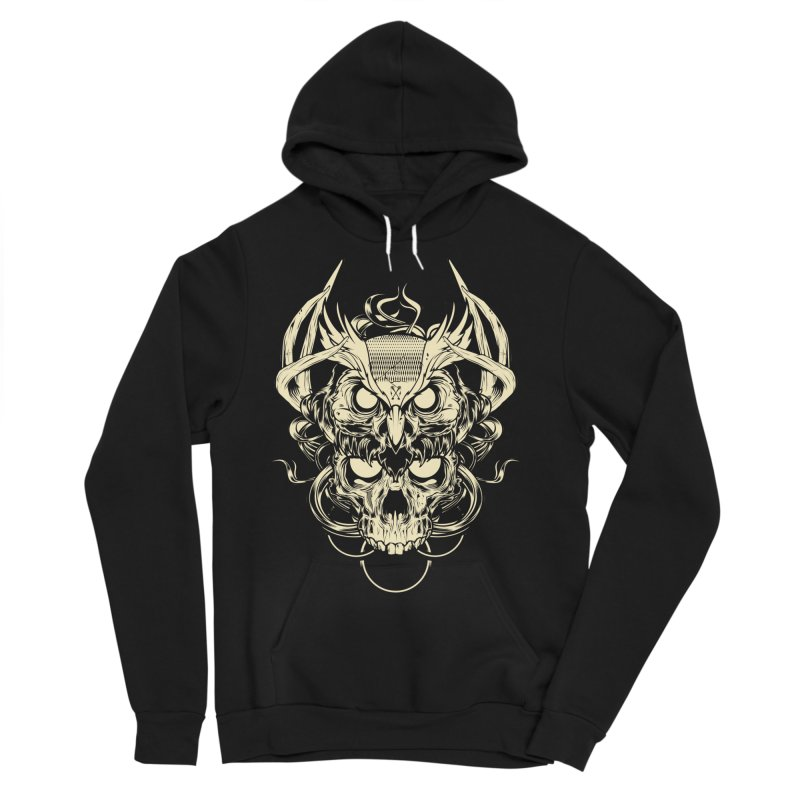 Hydro74 Old School Owl Men's Sponge Fleece Pullover Hoody by HYDRO74