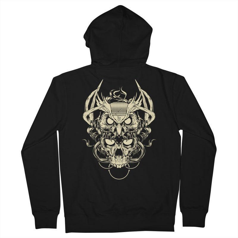 Hydro74 Old School Owl Women's French Terry Zip-Up Hoody by HYDRO74