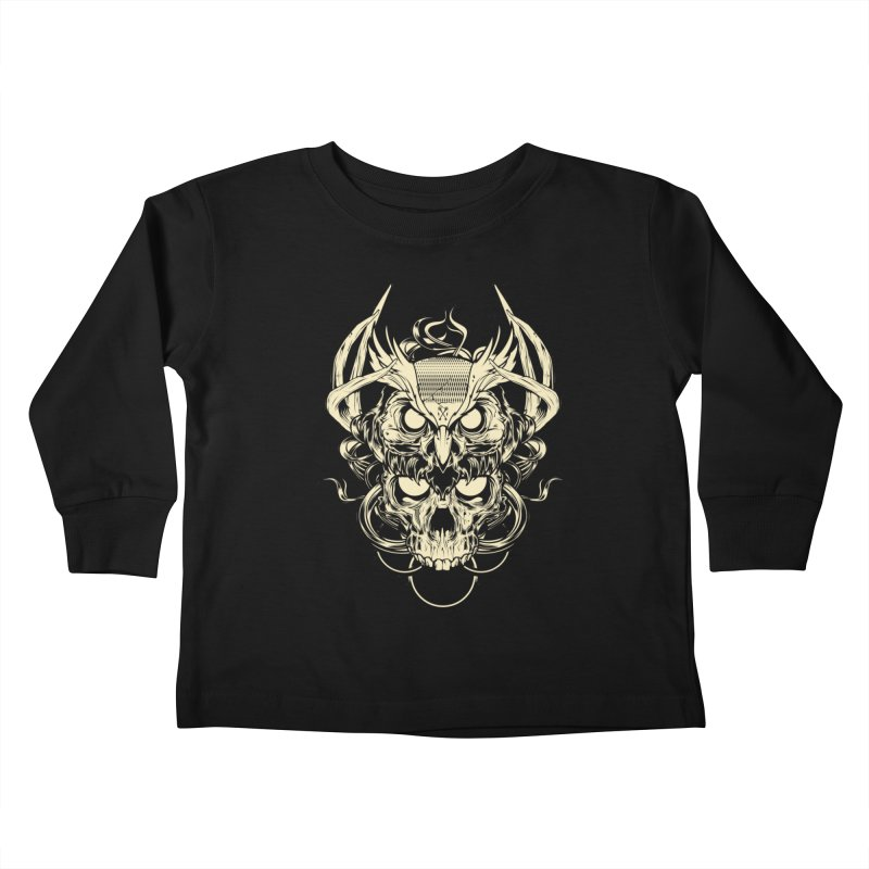 Hydro74 Old School Owl Kids Toddler Longsleeve T-Shirt by HYDRO74