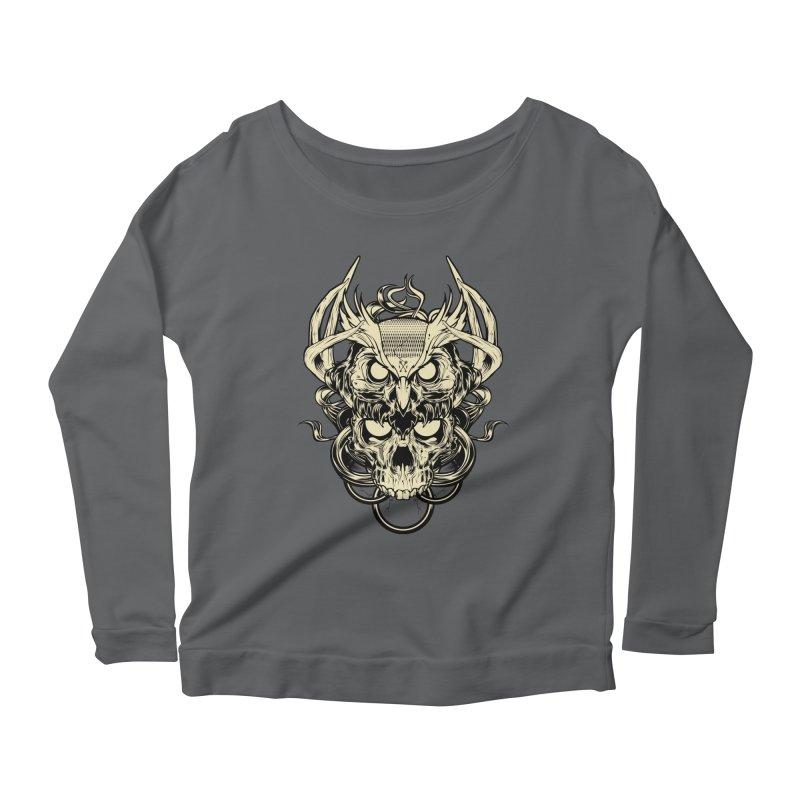 Hydro74 Old School Owl Women's Scoop Neck Longsleeve T-Shirt by HYDRO74