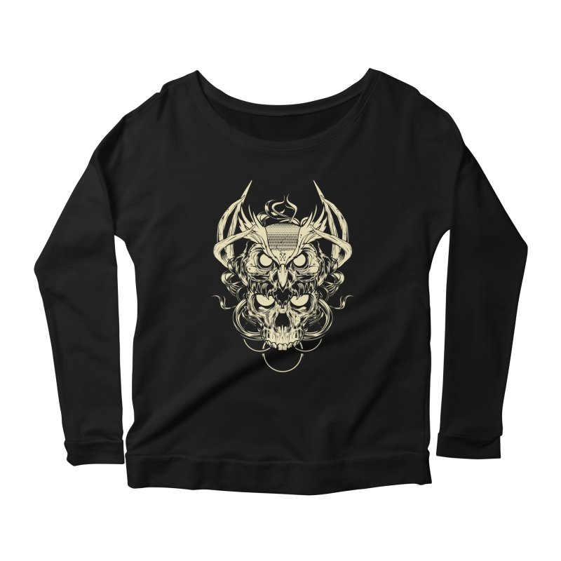 Hydro74 Old School Owl Women's Scoop Neck Longsleeve T-Shirt by HYDRO74
