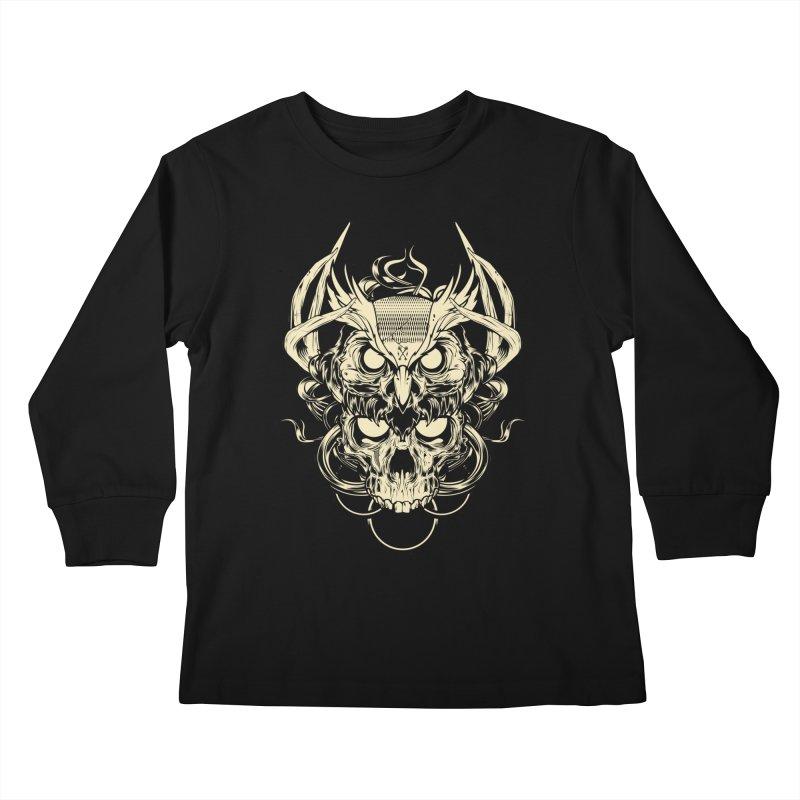 Hydro74 Old School Owl Kids Longsleeve T-Shirt by HYDRO74