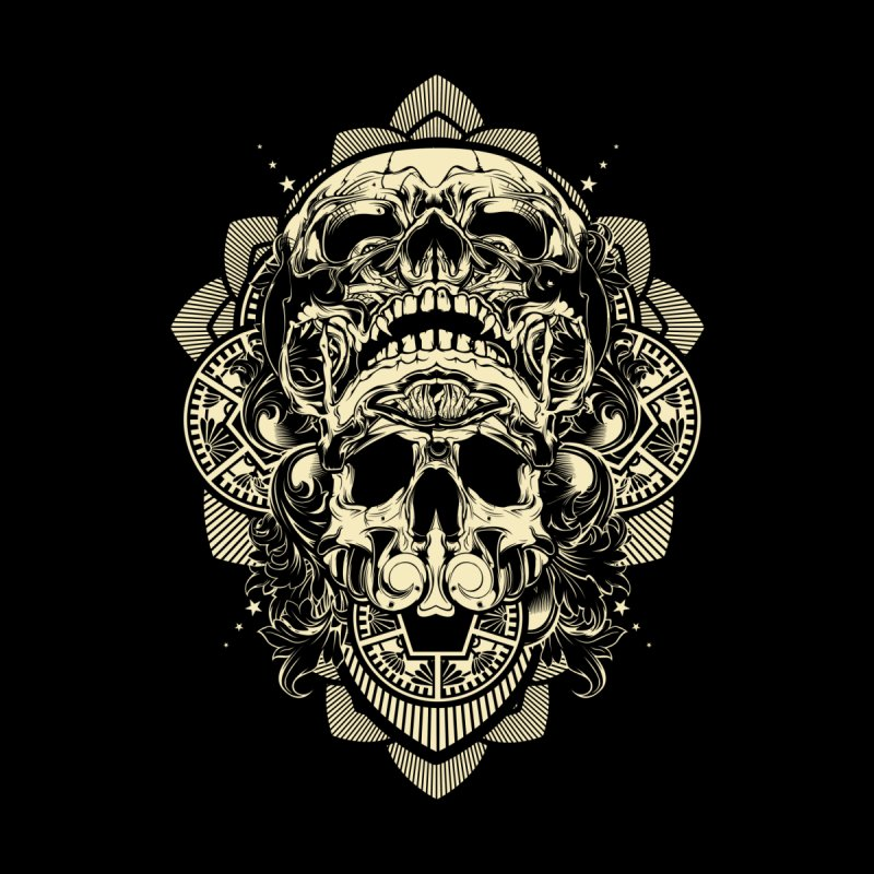 Hydro74 Old School Skull Men's T-Shirt by HYDRO74