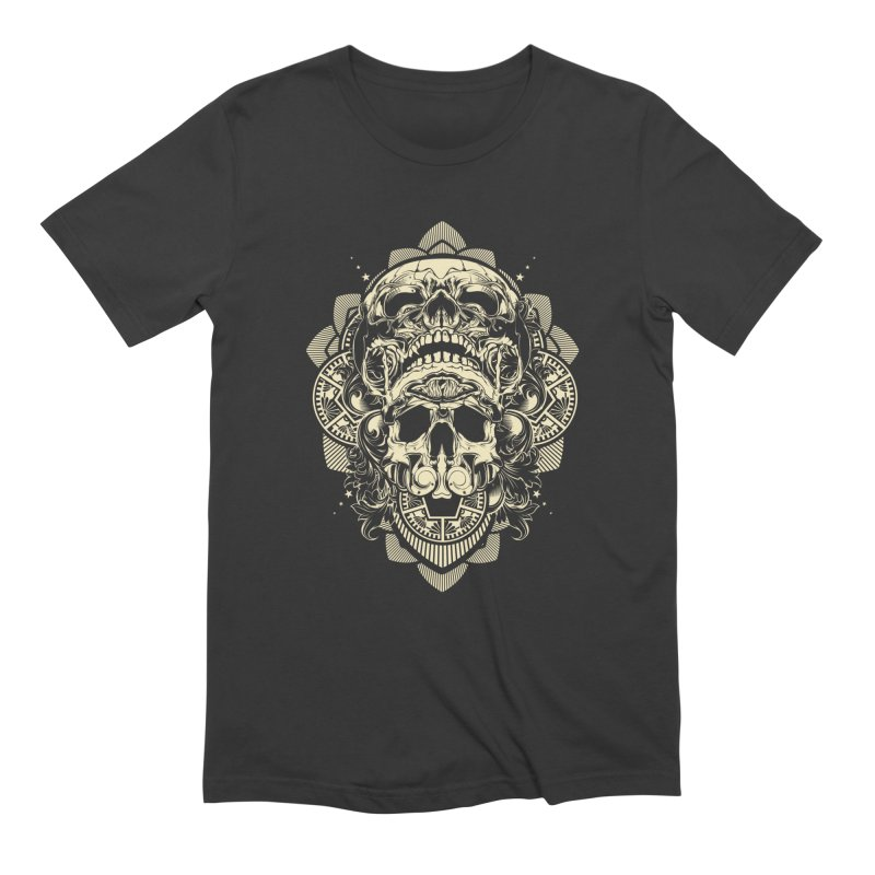 Hydro74 Old School Skull in Men's Extra Soft T-Shirt Smoke by HYDRO74
