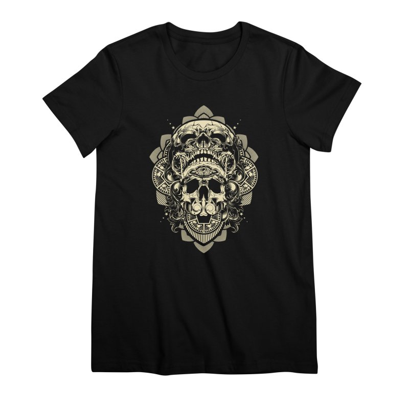 Hydro74 Old School Skull Women's Premium T-Shirt by HYDRO74