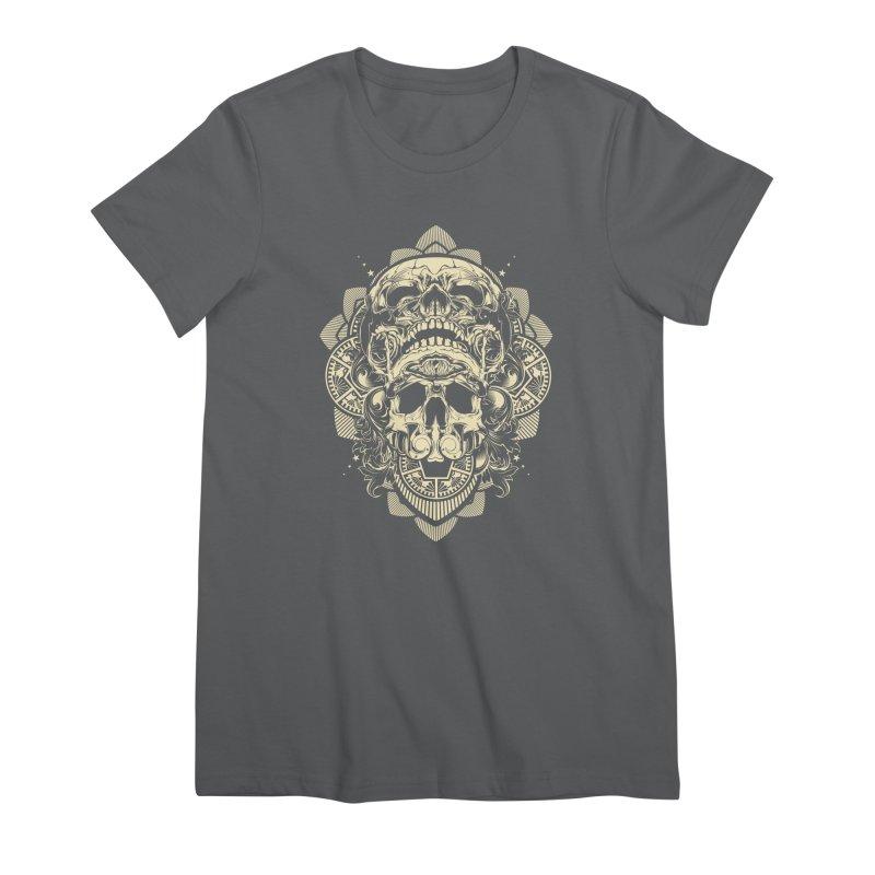 Hydro74 Old School Skull Women's Premium T-Shirt by HYDRO74