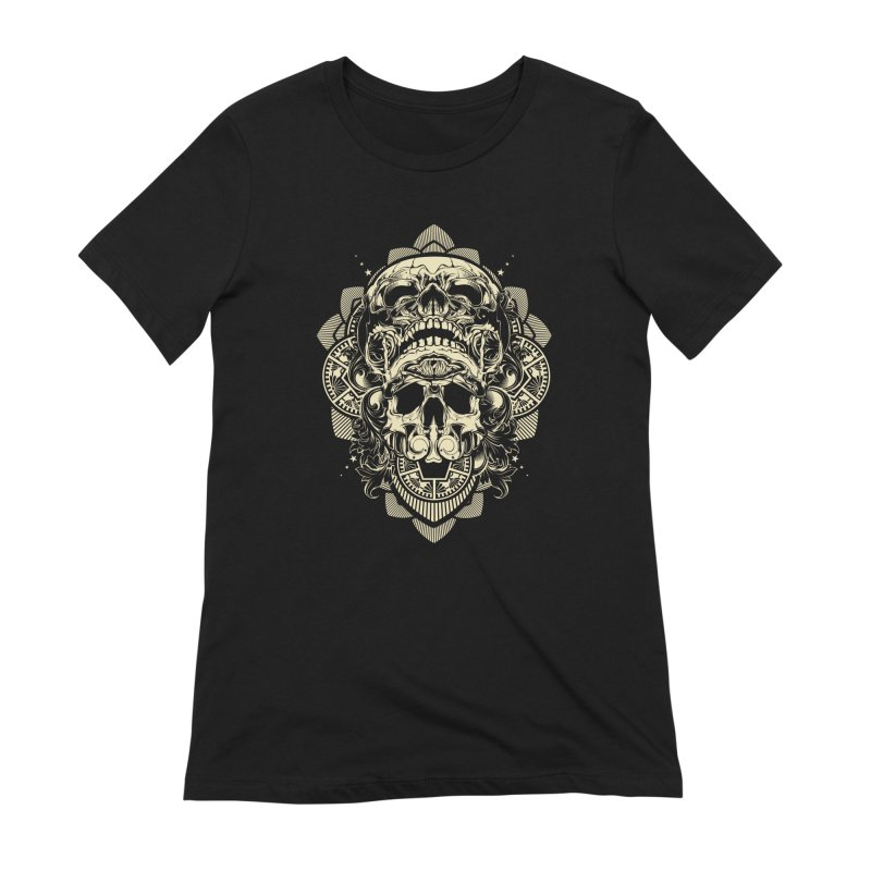 Hydro74 Old School Skull Women's Extra Soft T-Shirt by HYDRO74