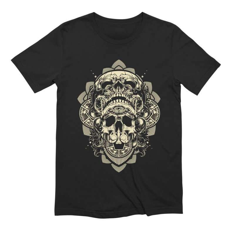 Hydro74 Old School Skull Men's Extra Soft T-Shirt by HYDRO74