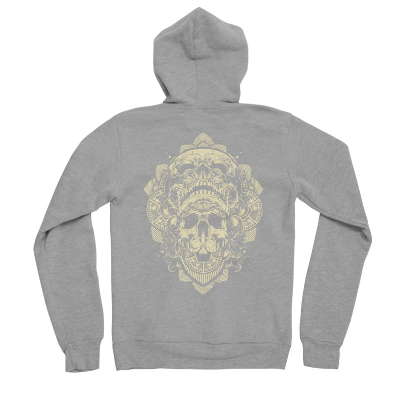 Hydro74 Old School Skull Women's Sponge Fleece Zip-Up Hoody by HYDRO74