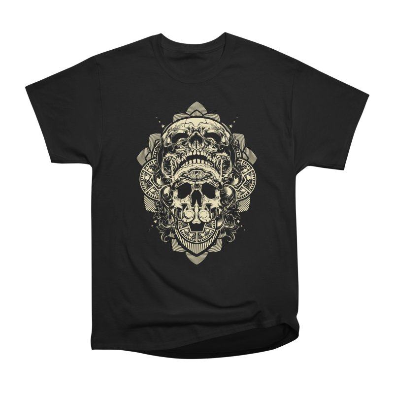 Hydro74 Old School Skull Women's Heavyweight Unisex T-Shirt by HYDRO74
