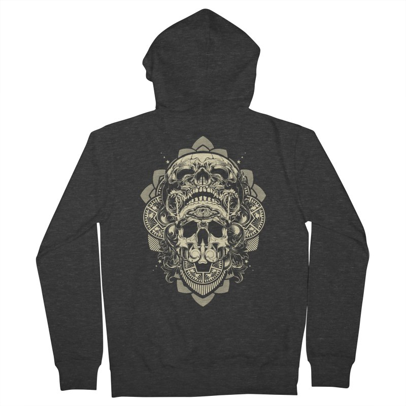 Hydro74 Old School Skull Women's French Terry Zip-Up Hoody by HYDRO74