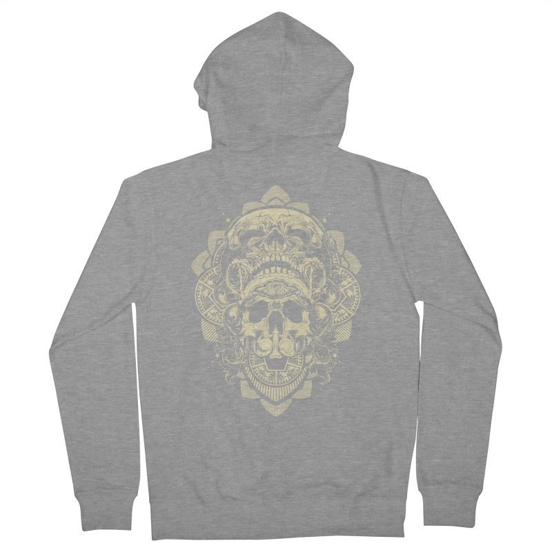Hydro74 Old School Skull Men's French Terry Zip-Up Hoody by HYDRO74