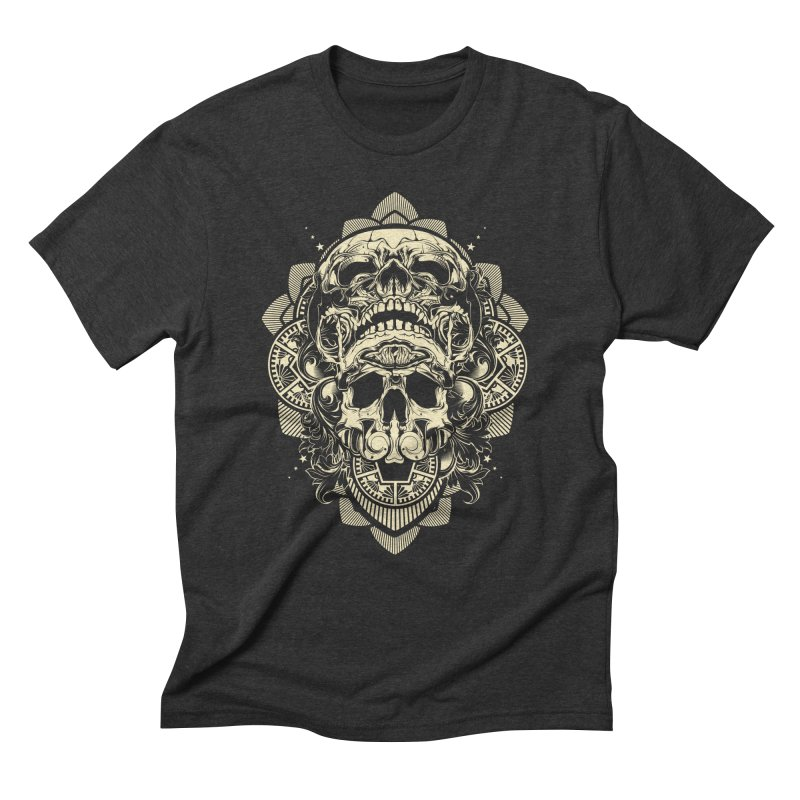 Hydro74 Old School Skull Men's Triblend T-Shirt by HYDRO74