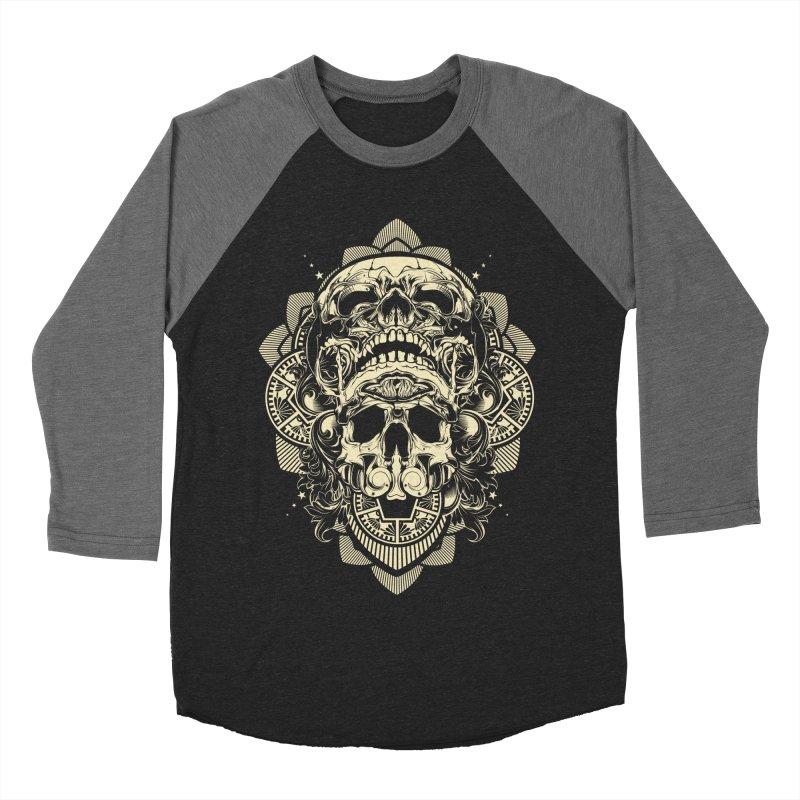 Hydro74 Old School Skull Women's Baseball Triblend Longsleeve T-Shirt by HYDRO74
