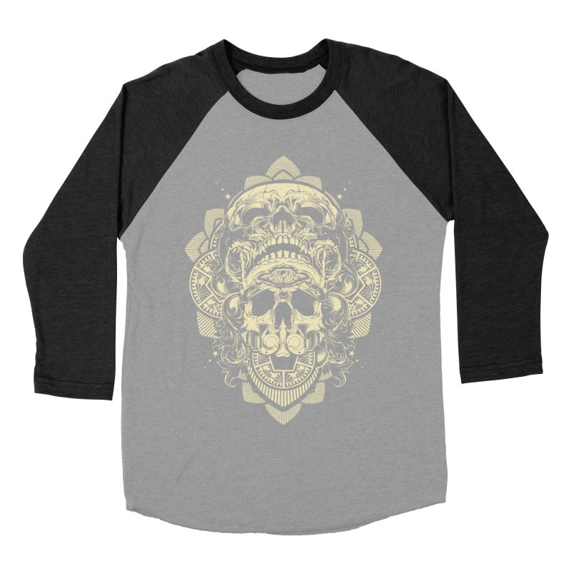 Hydro74 Old School Skull Men's Baseball Triblend Longsleeve T-Shirt by HYDRO74