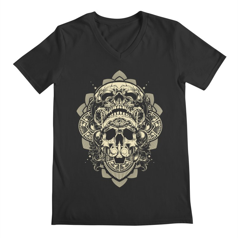 Hydro74 Old School Skull Men's Regular V-Neck by HYDRO74