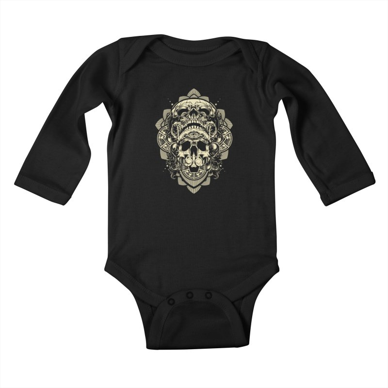 Hydro74 Old School Skull Kids Baby Longsleeve Bodysuit by HYDRO74