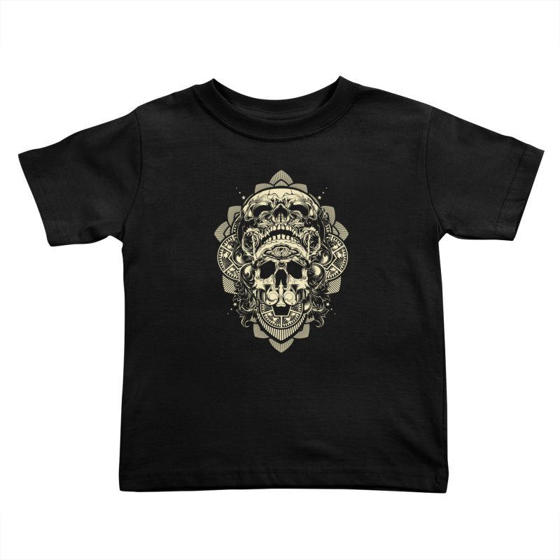 Hydro74 Old School Skull Kids Toddler T-Shirt by HYDRO74