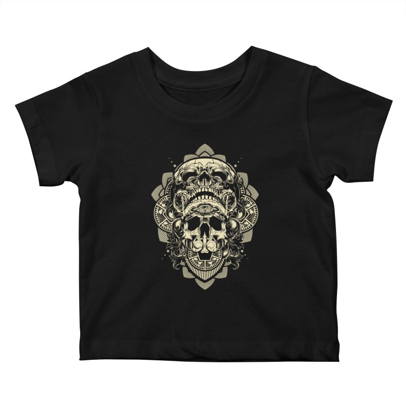 Hydro74 Old School Skull Kids Baby T-Shirt by HYDRO74