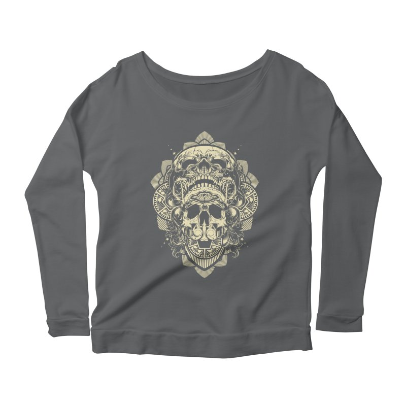 Hydro74 Old School Skull Women's Scoop Neck Longsleeve T-Shirt by HYDRO74