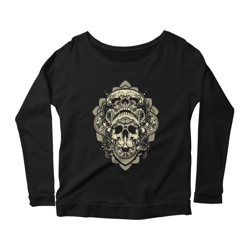 Hydro74 Old School Skull Women's Scoop Neck Longsleeve T-Shirt by HYDRO74