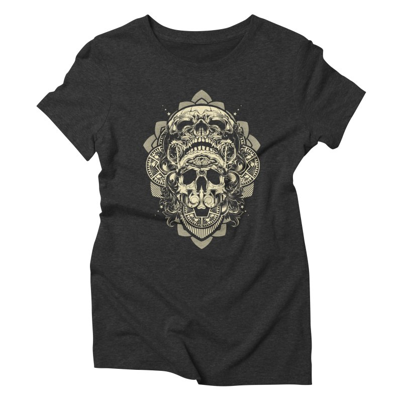 Hydro74 Old School Skull Women's Triblend T-Shirt by HYDRO74