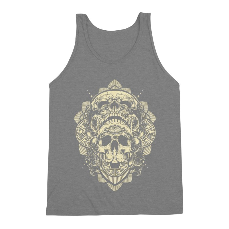 Hydro74 Old School Skull Men's Triblend Tank by HYDRO74