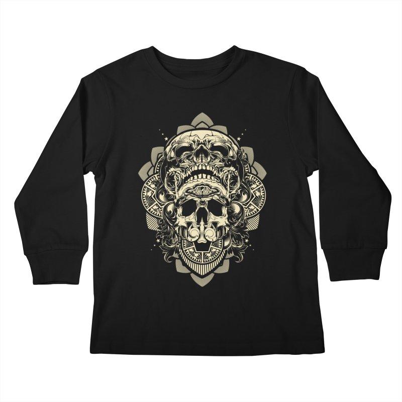 Hydro74 Old School Skull Kids Longsleeve T-Shirt by HYDRO74