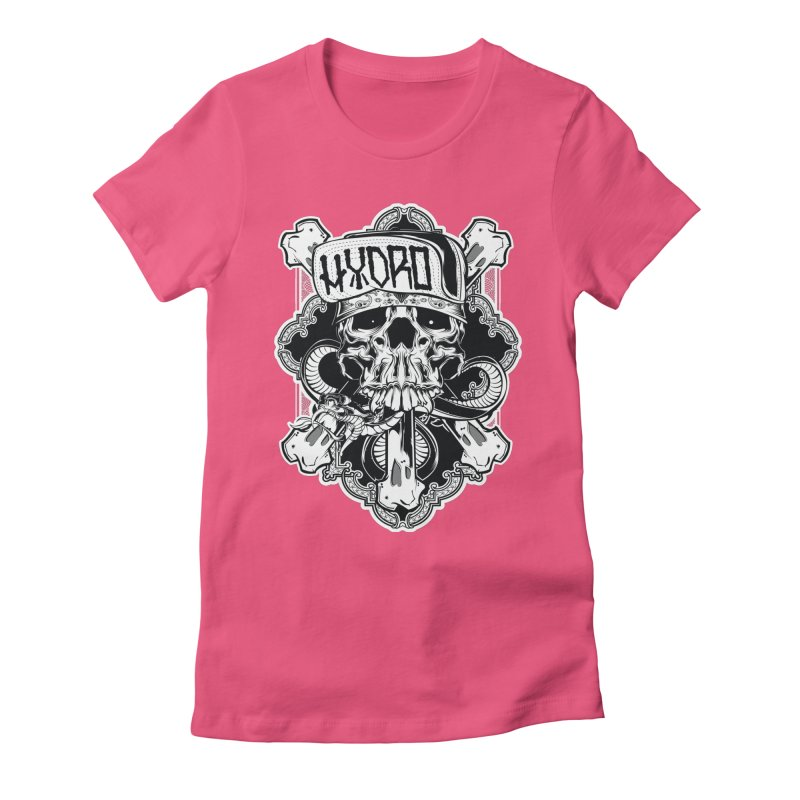 Hydro74 Old School Hesser Women's Fitted T-Shirt by HYDRO74