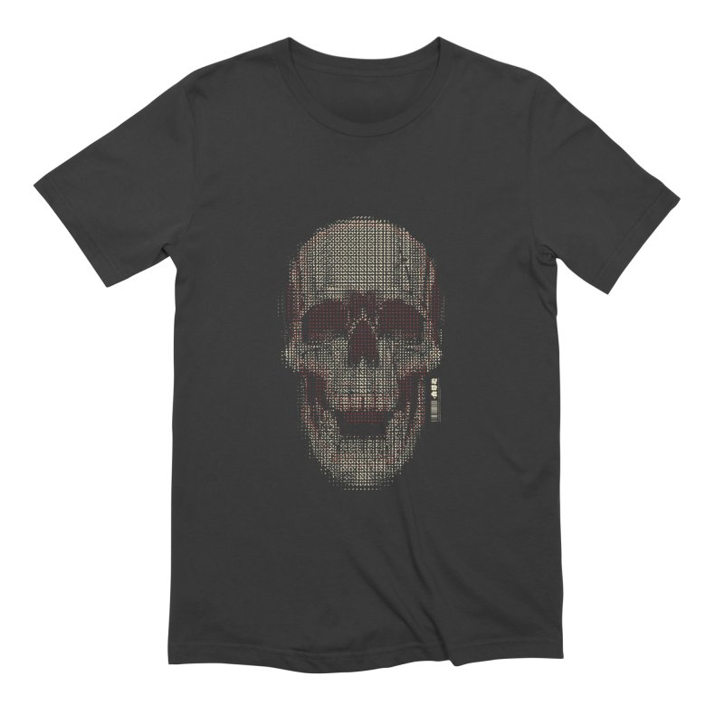 Grid Skull in Men's Extra Soft T-Shirt Smoke by HYDRO74