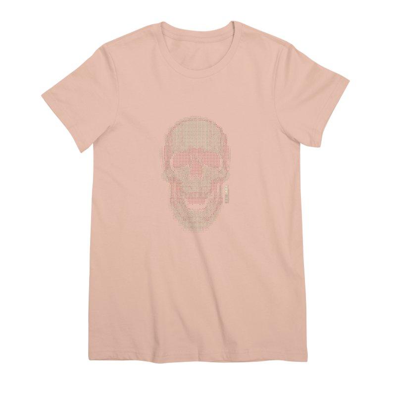 Grid Skull Women's Premium T-Shirt by HYDRO74