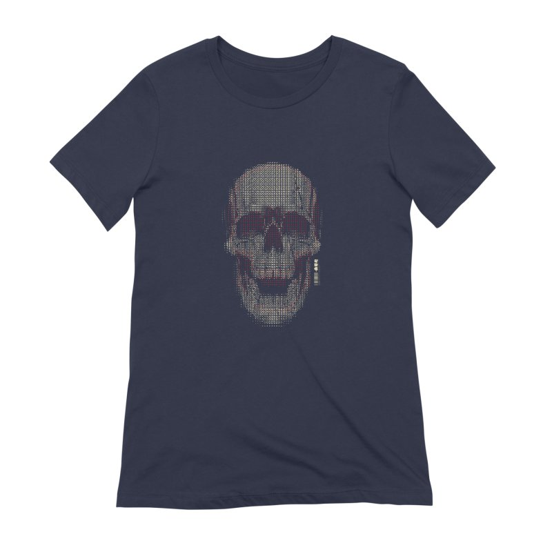 Grid Skull Women's Extra Soft T-Shirt by HYDRO74