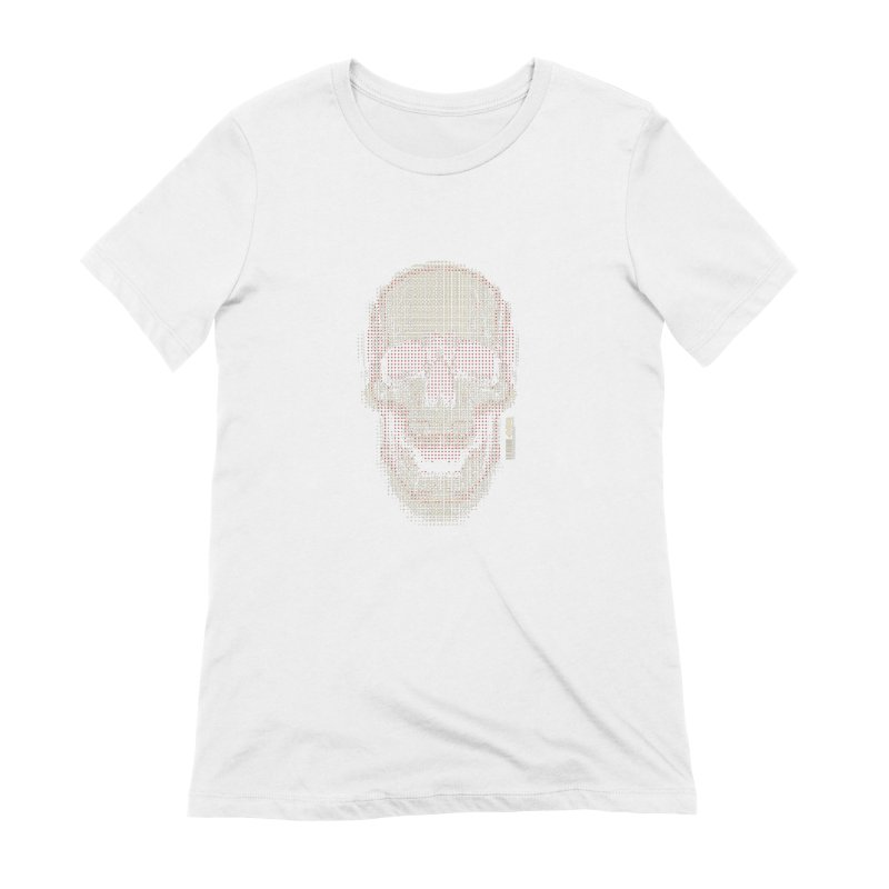 Grid Skull Women's Extra Soft T-Shirt by HYDRO74