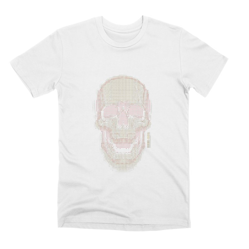 Grid Skull Men's Premium T-Shirt by HYDRO74