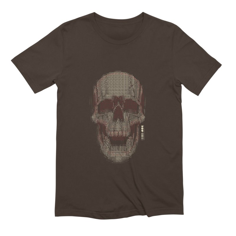 Grid Skull Men's Extra Soft T-Shirt by HYDRO74