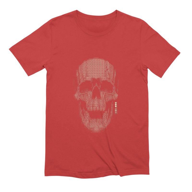 Grid Skull Men's Extra Soft T-Shirt by HYDRO74