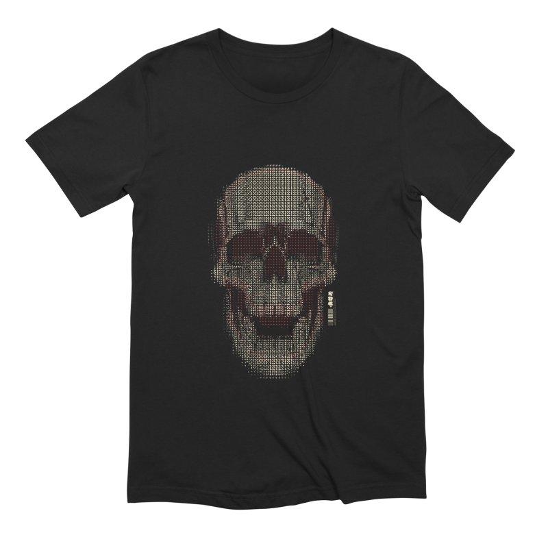 Grid Skull Men's T-Shirt by HYDRO74