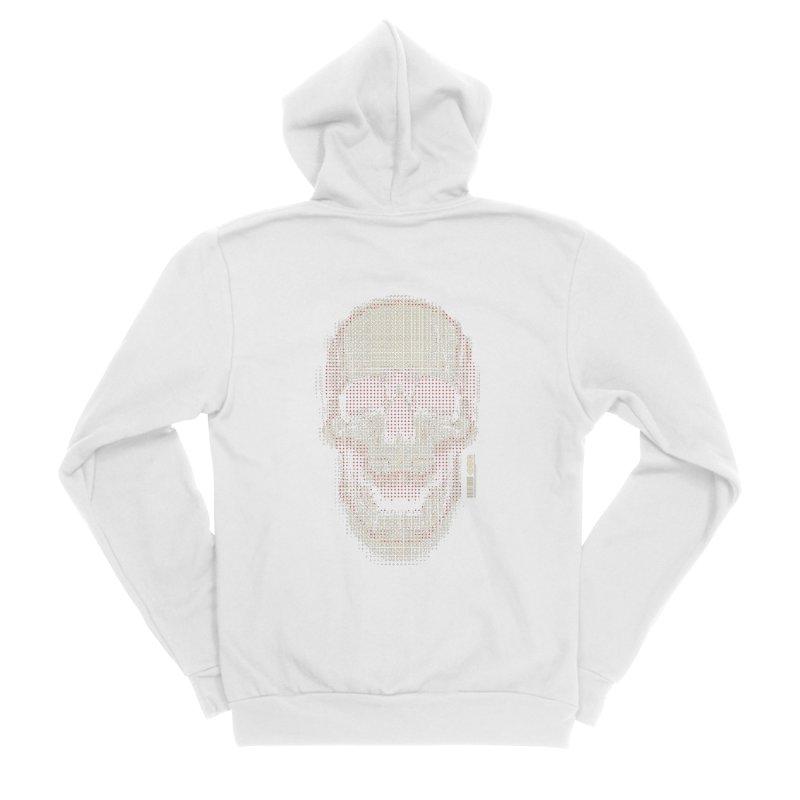 Grid Skull Men's Sponge Fleece Zip-Up Hoody by HYDRO74