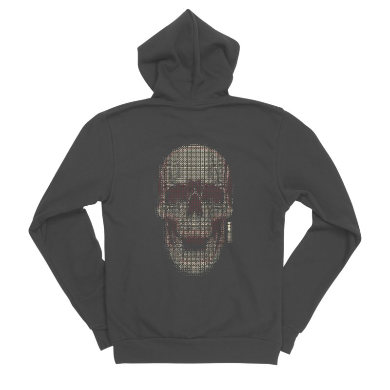 Grid Skull Women's Sponge Fleece Zip-Up Hoody by HYDRO74