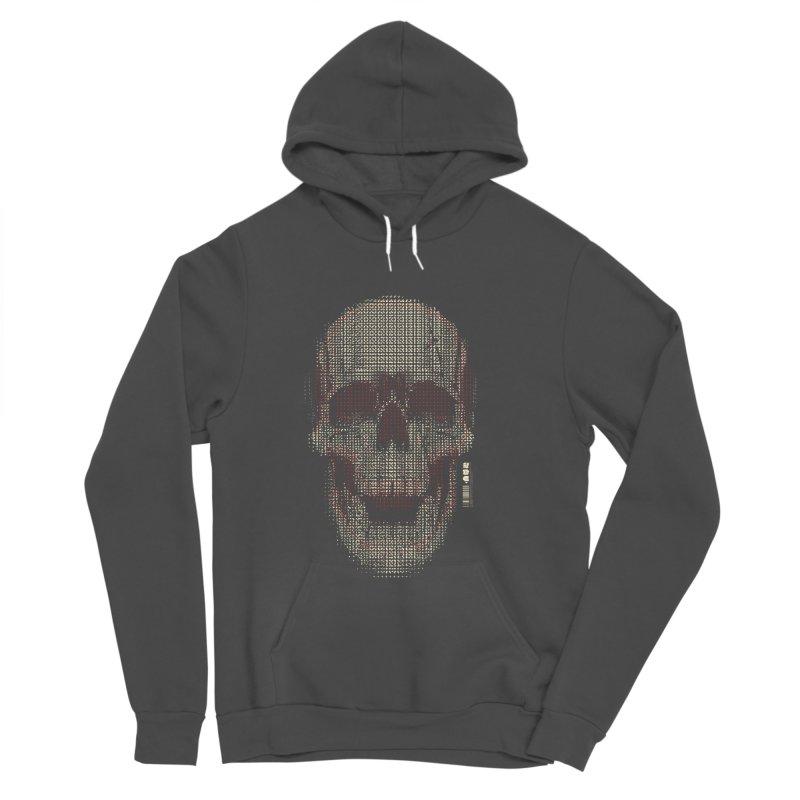 Grid Skull Men's Sponge Fleece Pullover Hoody by HYDRO74