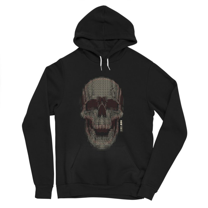 Grid Skull Men's Sponge Fleece Pullover Hoody by HYDRO74