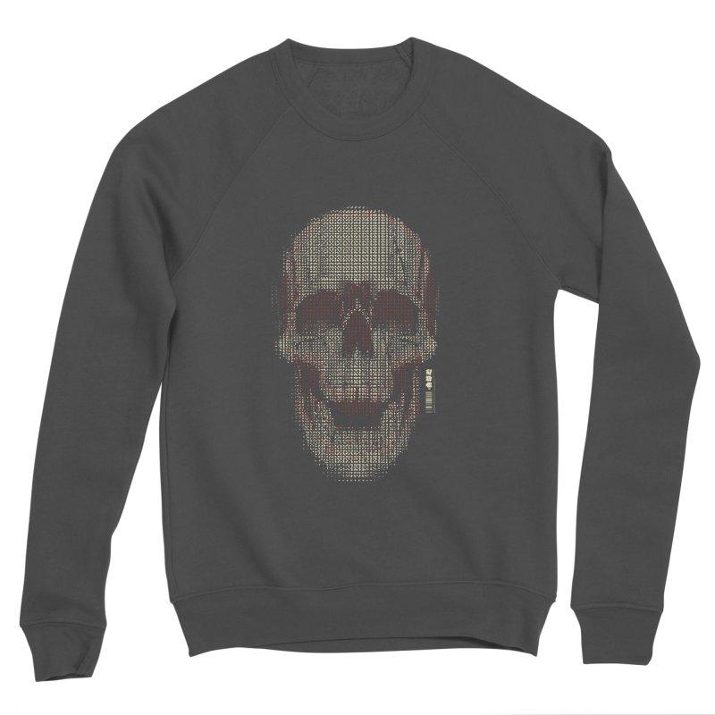 Grid Skull Men's Sponge Fleece Sweatshirt by HYDRO74