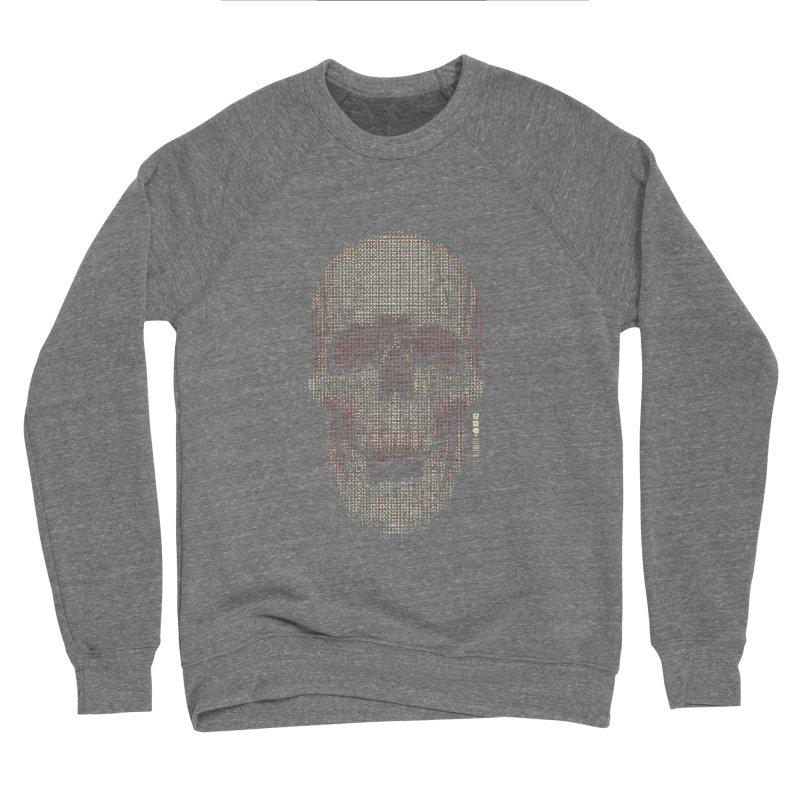 Grid Skull Women's Sponge Fleece Sweatshirt by HYDRO74