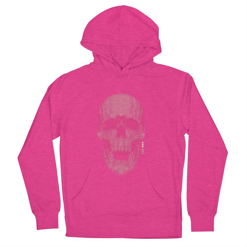 Grid Skull Women's French Terry Pullover Hoody by HYDRO74