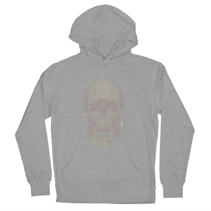 Grid Skull Men's French Terry Pullover Hoody by HYDRO74