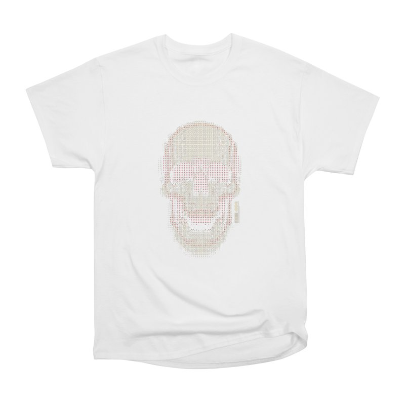 Grid Skull Men's Heavyweight T-Shirt by HYDRO74